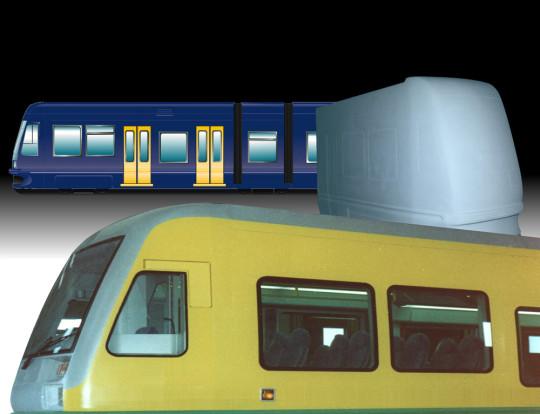 Mock up tram - 1996